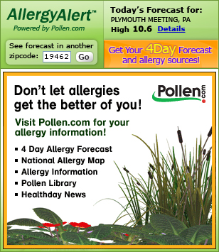 One Day Allergy Forecast (Embedded)